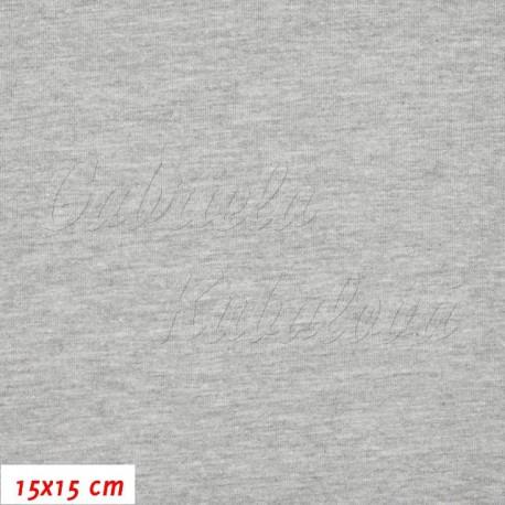 Úplet s EL, Melange šedý, 15x15cm