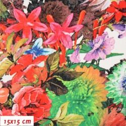Viskóza 95/5 - Slaměnky letní, šíře 150 cm, 10 cm