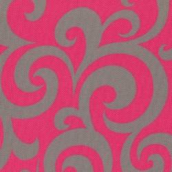 Kočárkovina LESK, Ornamenty šedé na růžové
