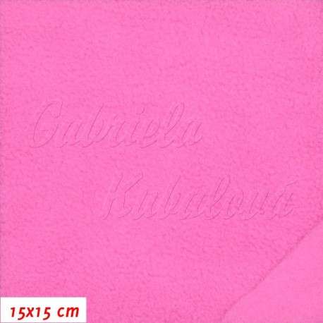 Fleece antipilling, 475 růžový, 15x15cm