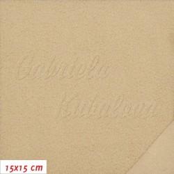 Látka micro fleece antipilling - FLEECE577, Béžový, šíře 140-155 cm, 10 cm