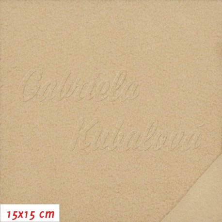 Fleece antipilling, 577 béžový, 15x15cm