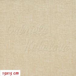 Plátno - Režný potisk, šíře 140 cm, 10 cm
