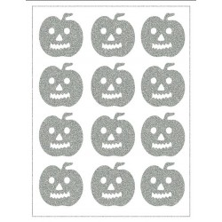 Reflexní nažehlovací potisk - Halloween (12 ks)