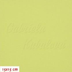 Kočárkovina, MAT 742 žlutozelený, 15x15cm