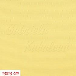 Kočárkovina, světle žlutá, LESK 006, šíře 160 cm, 10 cm, 2. jakost