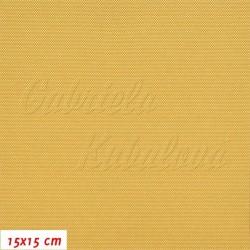 Kočárkovina, zlatě žlutá, LESK 040, šíře 160 cm, 10 cm, 2. jakost