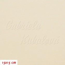Kočárkovina LESK CR - Smetanová, šíře 160 cm, 10 cm, 2. jakost