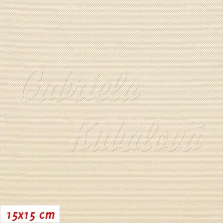 Kočárkovina, LESK CR smetanová, 15x15cm