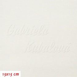 Kočárkovina, stříbrná šedo bílá, LESK 016, šíře 160 cm, 10 cm