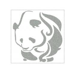Reflexní nažehlovací potisk - Panda (1 ks)