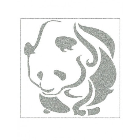 Reflexní nažehlovací potisk - Panda