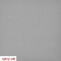 Plátno - šedé, 145 g/m2, šíře 150 cm, 10 cm, ATEST 1