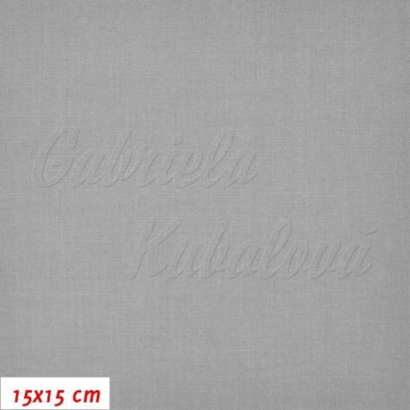 Plátno, šedé, 15x15cm