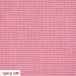 Látka popelín - Pepito červené a bílé, šíře 140 cm, 10 cm