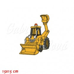 Nažehlovačka, Bořek stavitel - Žlutý bagr Béďa, 15x15cm