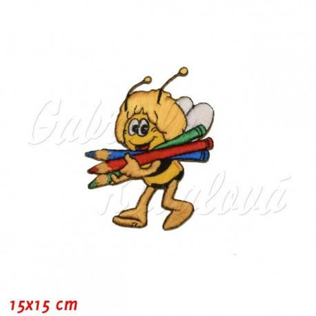 Nažehlovačka, Včelka Mája s pastelkami, 15x15cm