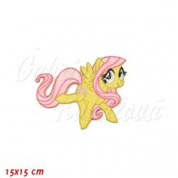 Nažehlovačka - My Little Pony - Fluttershy (žlutý pegas s růžovou hřívou)