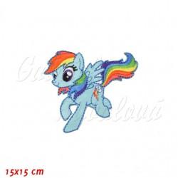 Nažehlovačka, My Little Pony - Rainbow Dash, 15x15cm