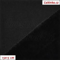 Warmkeeper - teplákovina a fleece - černý, šíře 165 cm, 10 cm