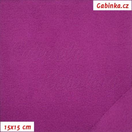 Fleece antipilling, 592 růžovofialový, 15x15cm