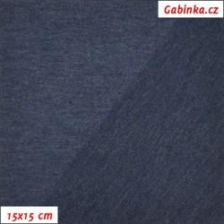 Teplákovina s EL 97/3, A - modrá jeans 1001, šíře 165 cm, 10 cm, ATEST 1