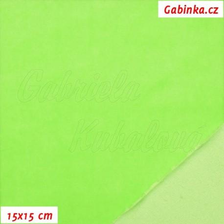 Kojenecký plyš, neónově zelený, 15x15cm
