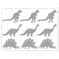 Reflexní nažehlovací potisk - Dinosauři (3x3 ks)