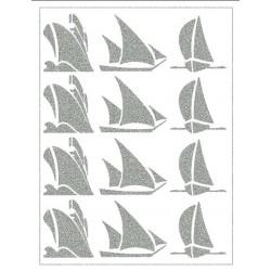 Reflexní nažehlovací potisk - Lodě (12 ks)