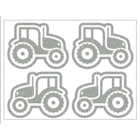 Reflexní nažehlovací potisk - Traktory II (4 ks)