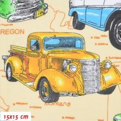 Plátno, Super bouráky na US mapě, 15x15cm, obr. 1