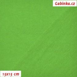 Teplákovina s EL 97/3, A - ostře zelená 1061, šíře 165 cm, 10 cm, ATEST 1
