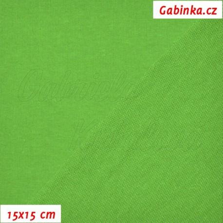 Teplákovina s EL, ostře zelená, 15x15cm
