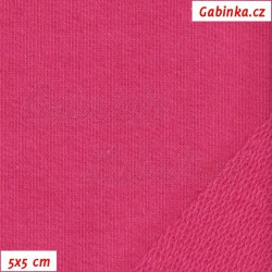 Teplákovina s EL 97/3, A - středně růžová, šíře 165 cm, 10 cm, TEL-1010
