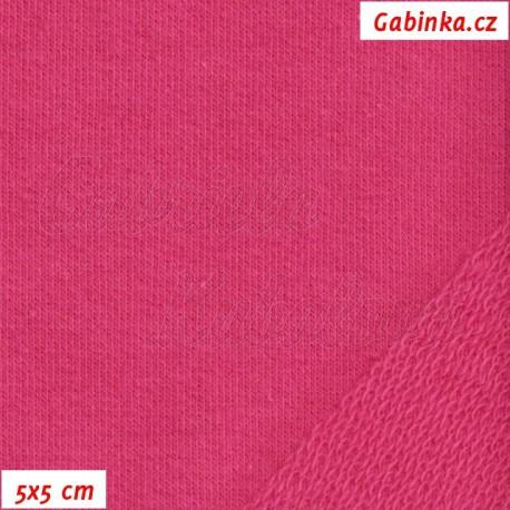 Teplákovina s EL, středně růžová, 5x5cm