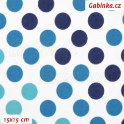 Kočárkovina Premium - Puntíky přecházející modré, šíře 160 cm, 10 cm