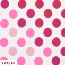 Kočárkovina Premium, Puntíky přecházející růžové, 15x15cm