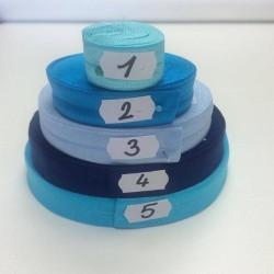 Lemovací guma půlená - 19 mm, tm. modrá č. 4, 1 m