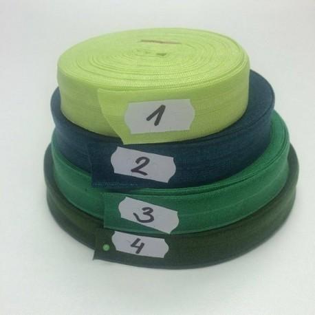 Lemovací guma půlená - 19 mm, zelená č. 3, 1 m