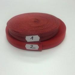 Lemovací guma půlená - 19 mm, červená č. 2, 1 m