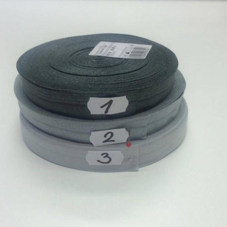 Lemovací guma půlená - 19 mm, šedá č. 2, 1 m