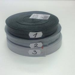 Lemovací guma půlená - 19 mm, světle šedá č. 3, 1 m