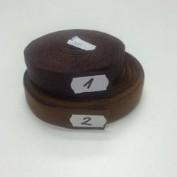 Lemovací guma půlená - 19 mm, hnědá č. 1, 1 m