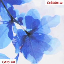 Kočárkovina Premium, Sakura modrá, šíře 160 cm, 10 cm