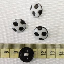 Dětský knoflík - Fotbalové míče černé