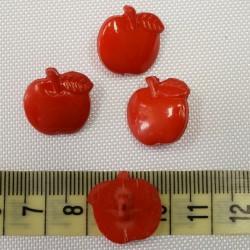 Dětský knoflík - Jablíčka červená