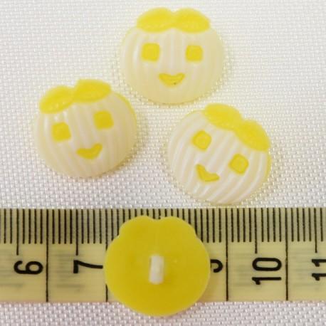 Dětský knoflík - Dýně žluté