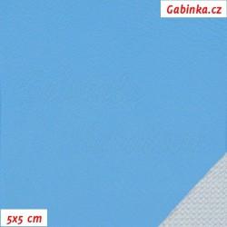 Koženka, hladká tyrkysová, 5x5cm