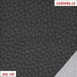 Koženka, hrubá černá, 5x5cm