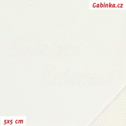 Koženka, hladká bílá, 5x5cm